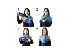 як зав`язати шарф на пальто без воротніка3