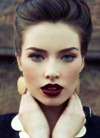 макіяж з темною помадою 7