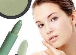 Зелений коректор для обличчя
