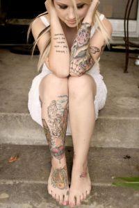 Жіночі татуювання на нозі