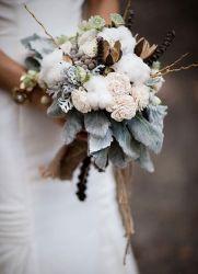 Зимовий весільний букет
