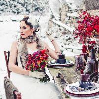 Зимове весілля - оформлення