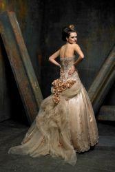 Золоте весільну сукню